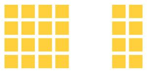 A livello inconscio, pensiamo che le 16 immagini a sinistra facciano parte di una categoria, e le 8 a destra di un'altra.
