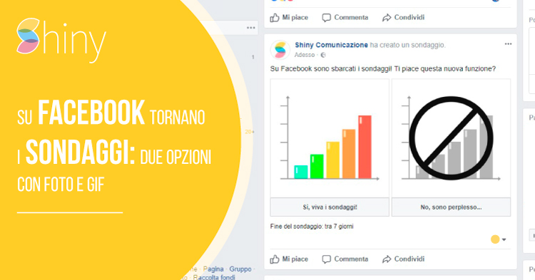 Tornano i sondaggi su Facebook 2017 - Due opzioni con foto, GIF e data di scadenza