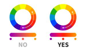 Gradiente di colore corretto tra tonalità lontane