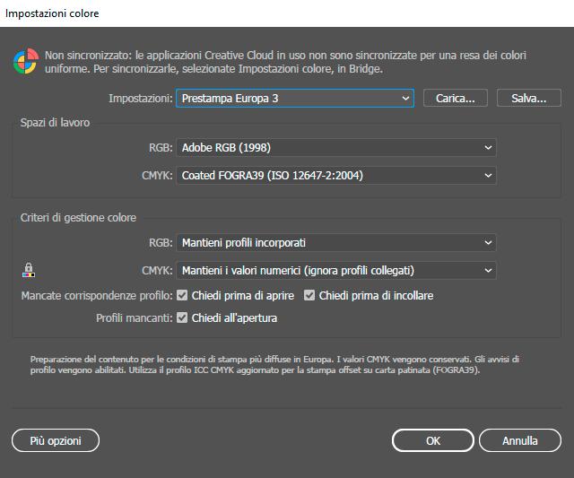 Preparare un file per la stampa - Impostazioni colore e prestampa su Illustrator