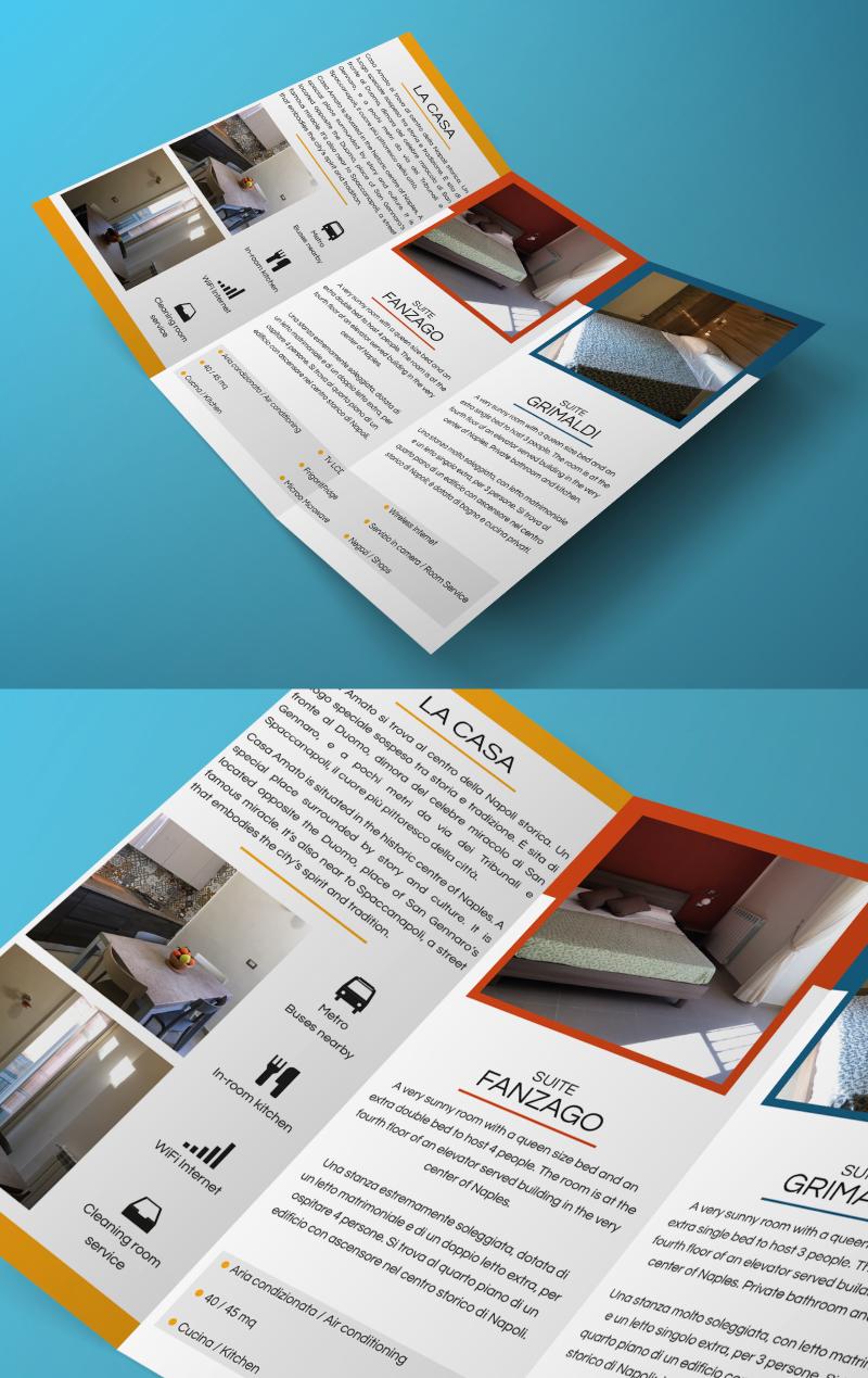 Casa Amato - Brochure e testi - Ante interne camere