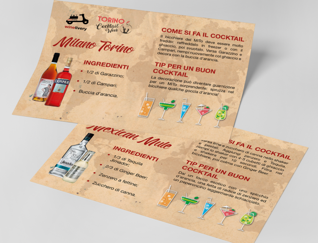 Winelivery Torino Cocktail Week - Flyer con testi 1