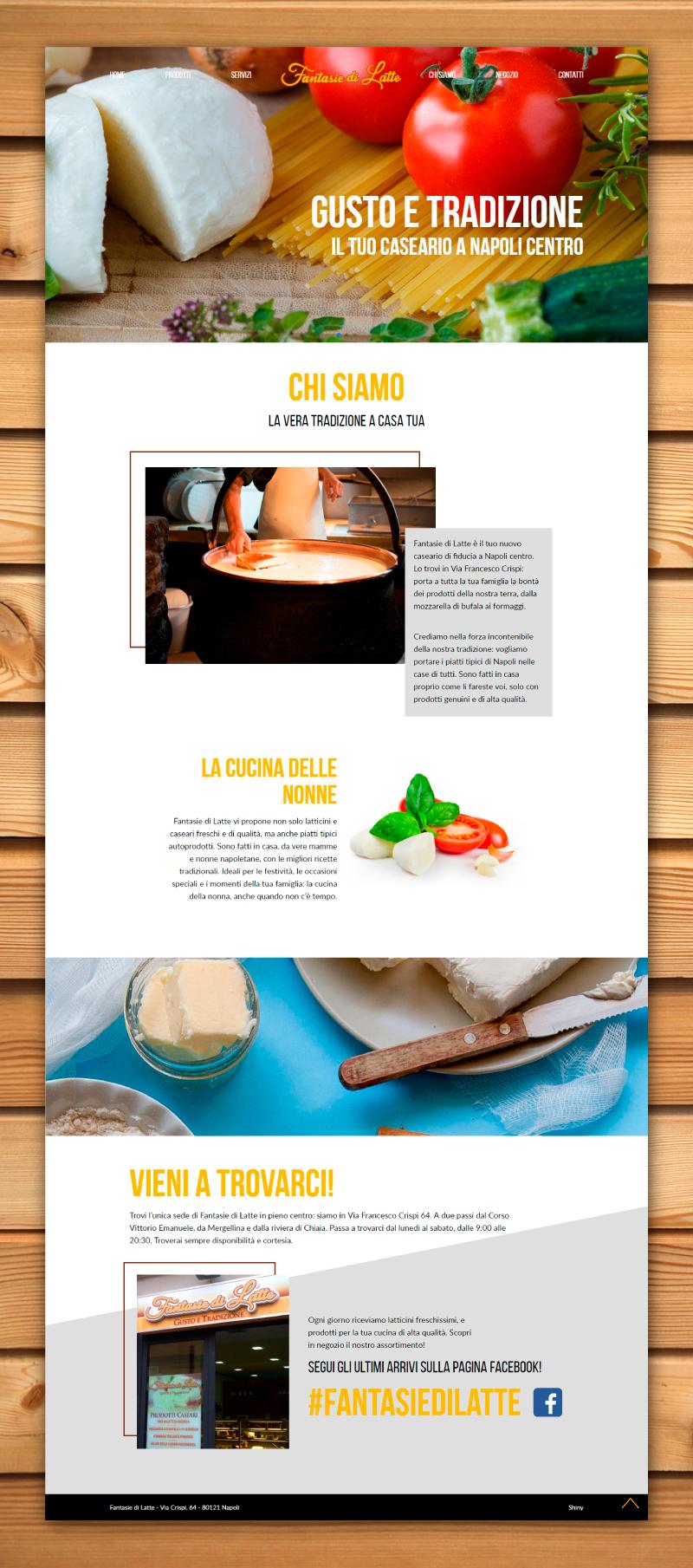 Fantasie di Latte - Sito web - Homepage