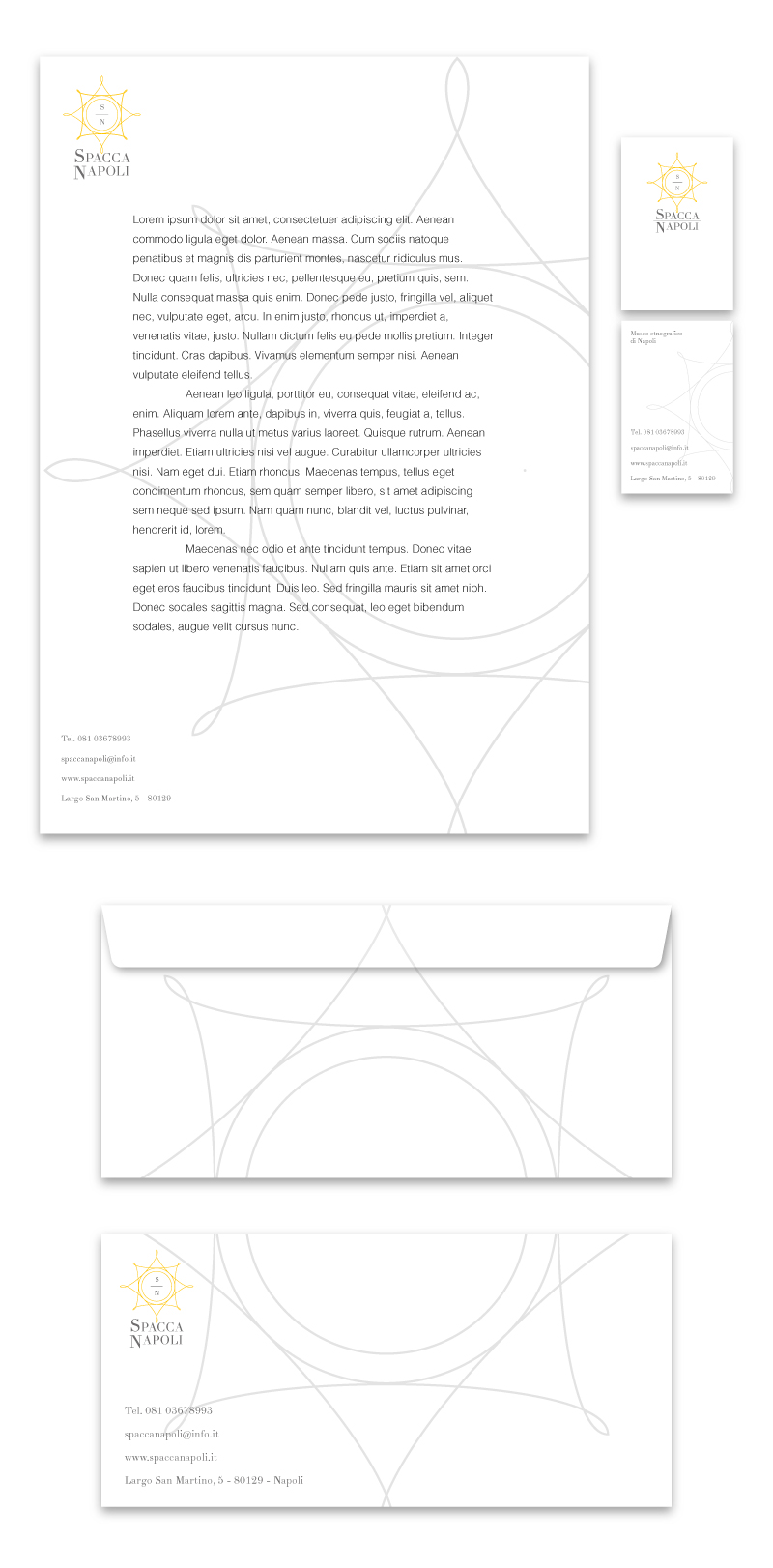 Immagine coordinata e logo Portfolio - Museo - Carta intestata e busta commerciale