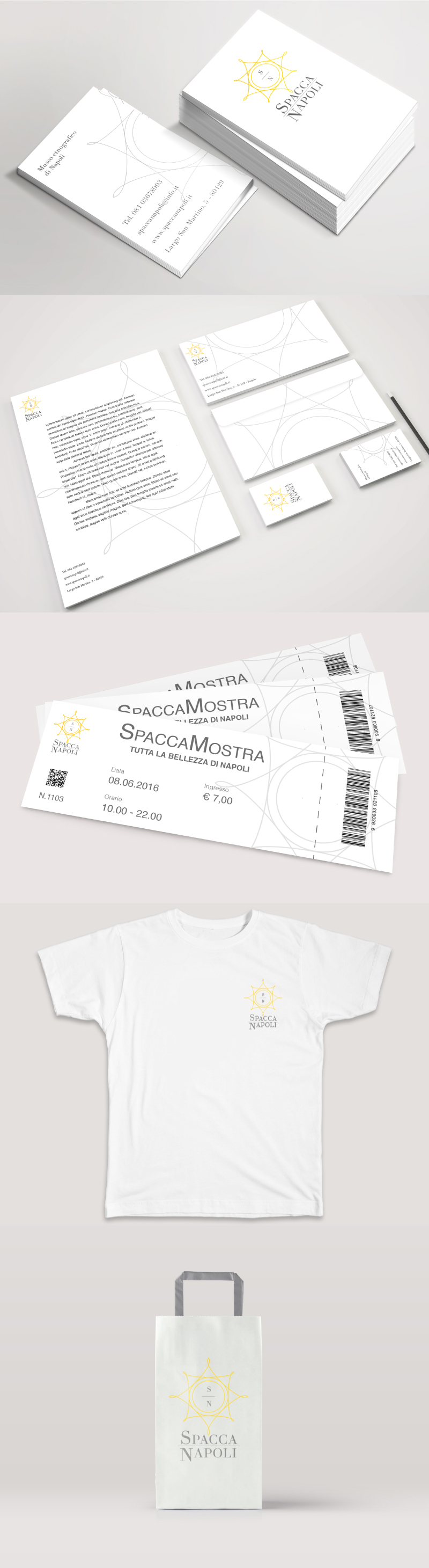 Immagine coordinata e logo Portfolio - Museo - Merchandising