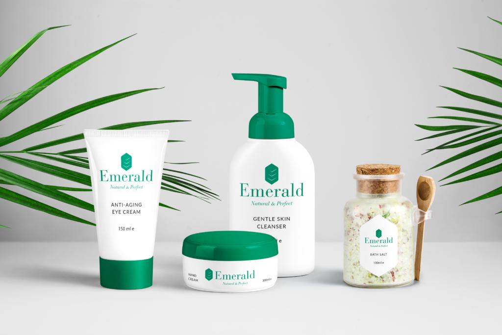 Logo Portfolio - Creme e cosmetici - Mockup packaging