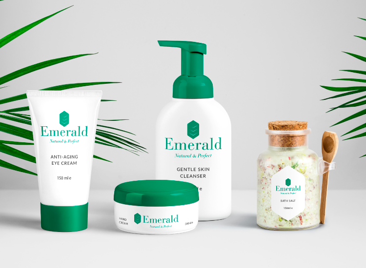 Emerald - Logo per creme e cosmetici