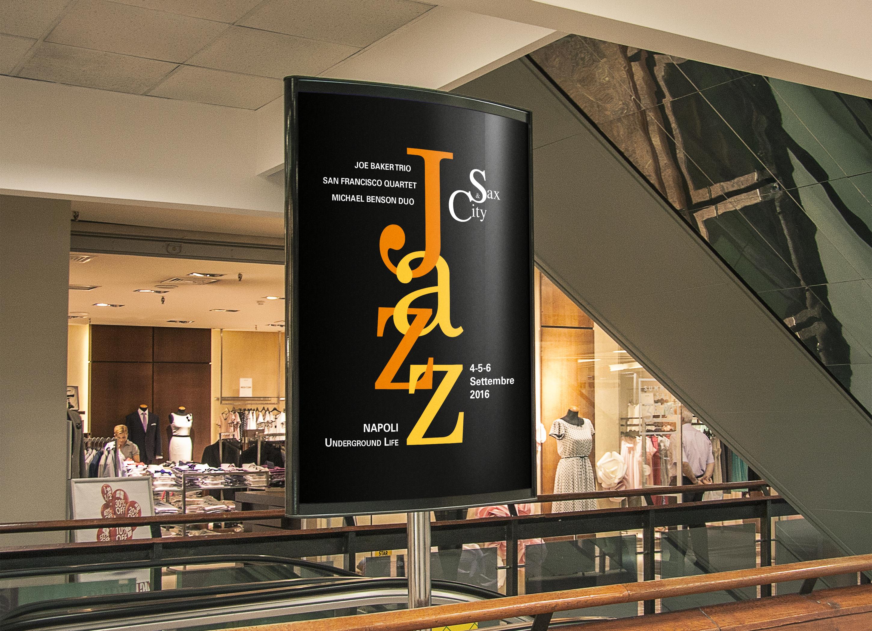 Manifesto Portfolio - Festival di musica Jazz - Ambientato interno