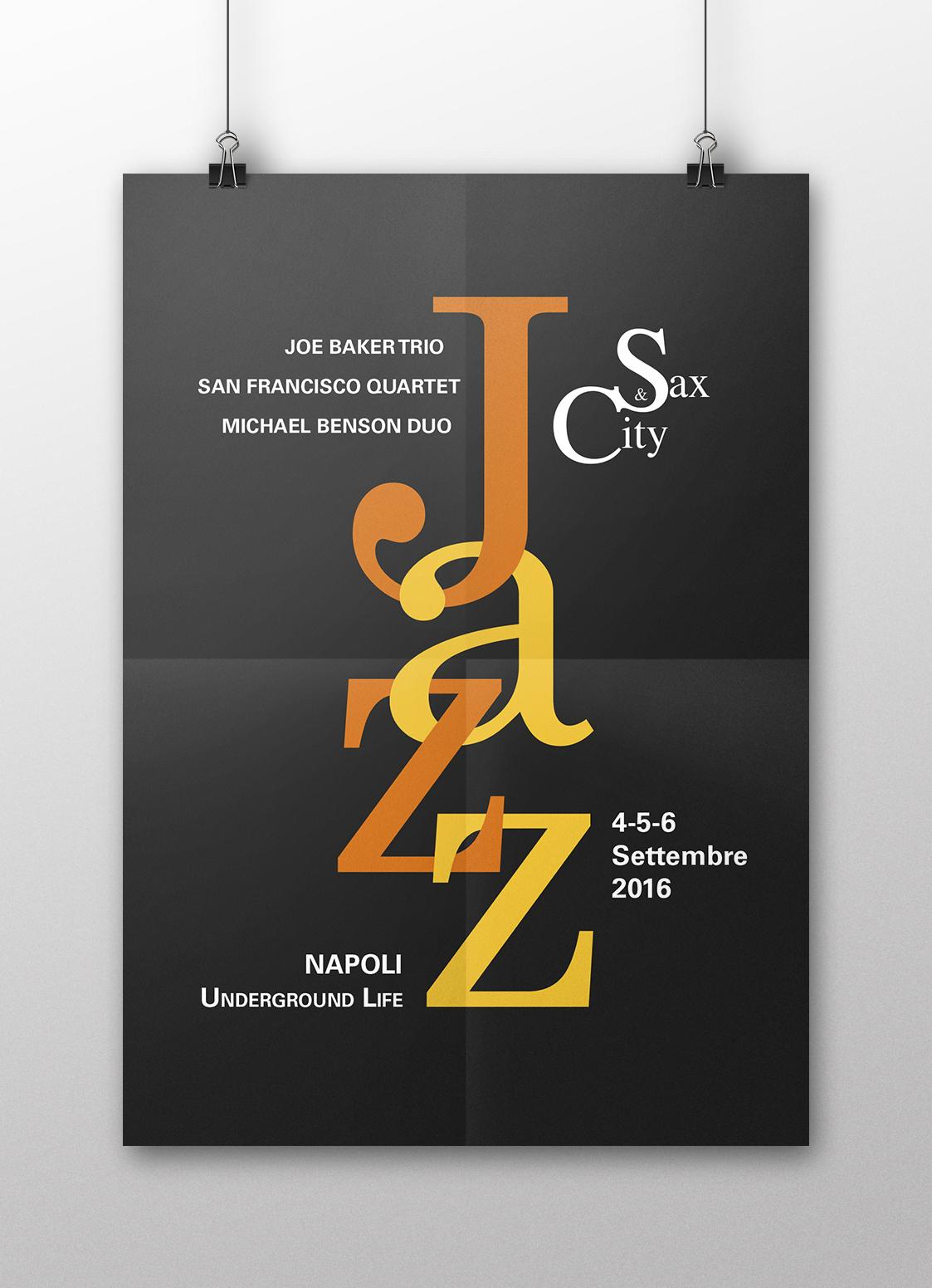 Manifesto Portfolio - Festival di musica Jazz - Fronte