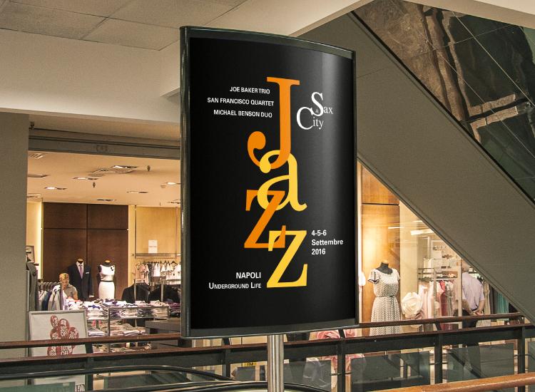 Sax & City - Manifesto per festival di musica Jazz