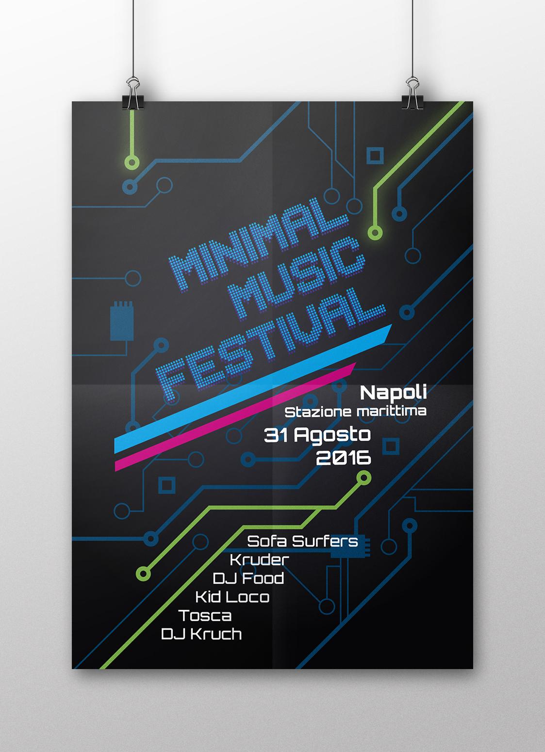 Manifesto Portfolio - Festival di musica Minimal - Fronte