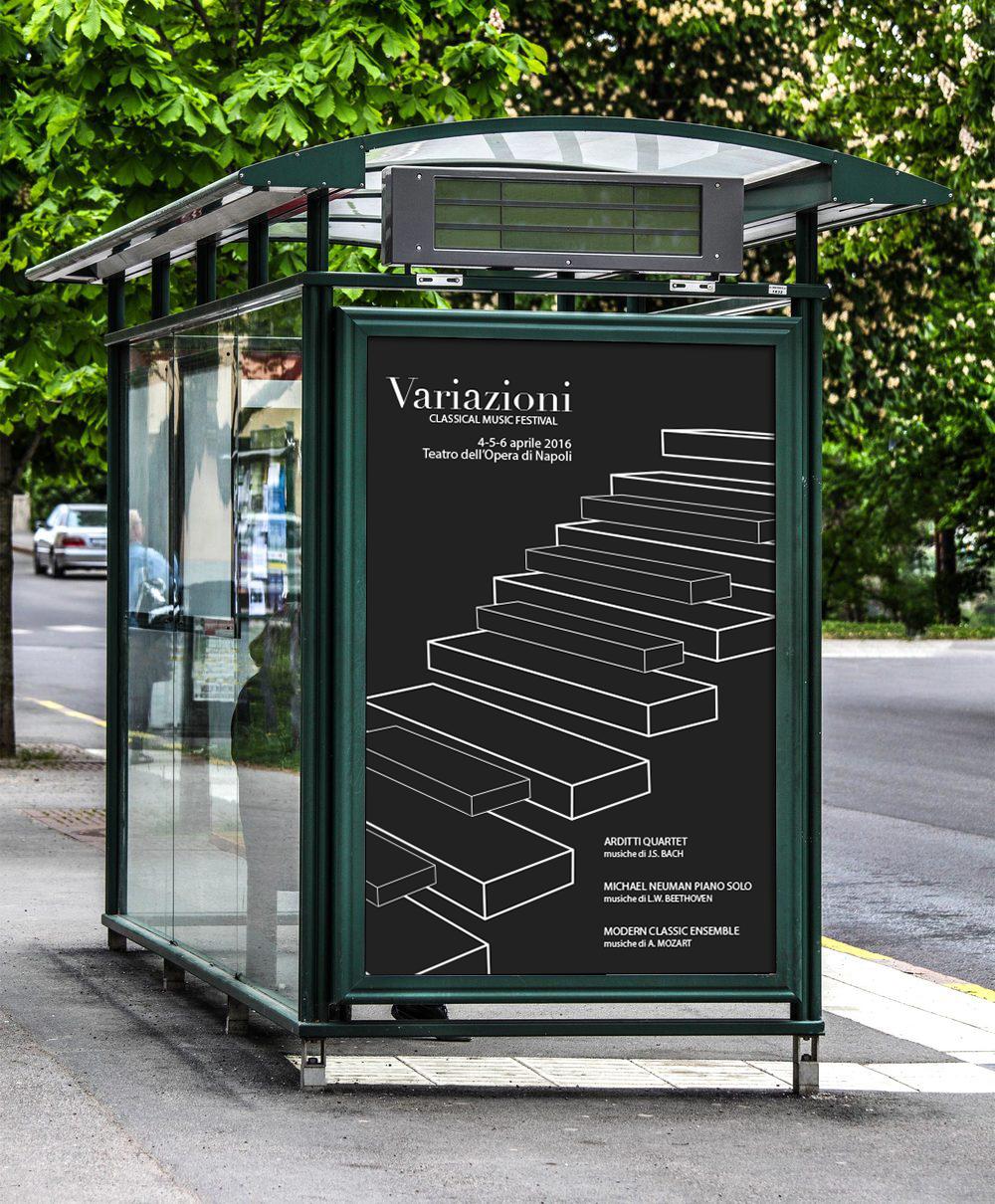 Manifesto Portfolio - Festival di musica classica - Ambiente esterno