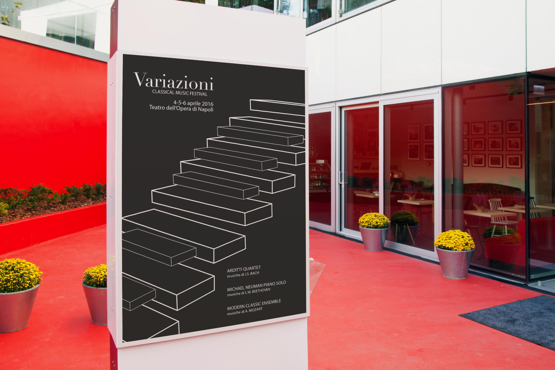 Manifesto Portfolio - Festival di musica classica - Ambiente interno