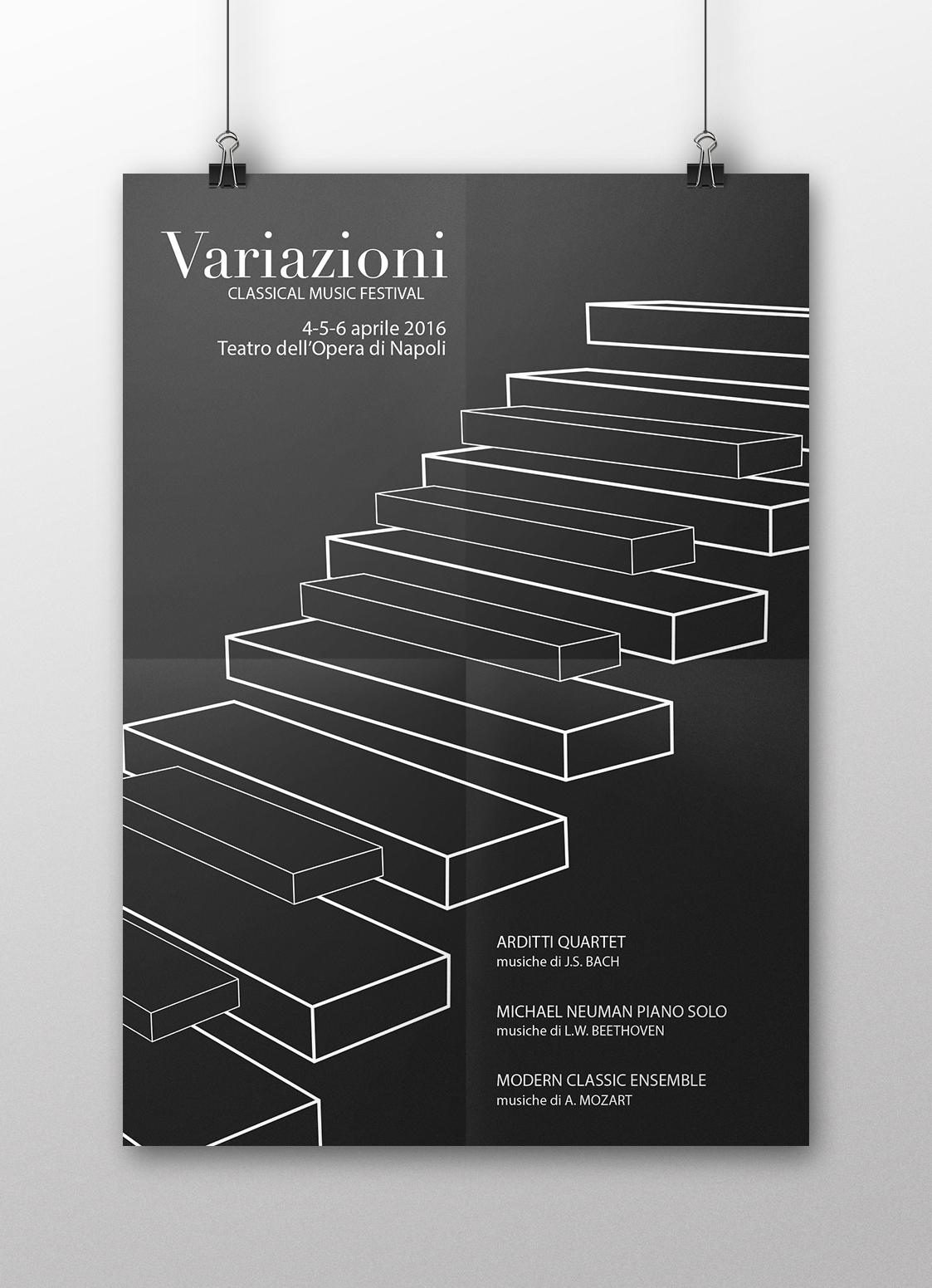 Manifesto Portfolio - Festival di musica classica - Fronte