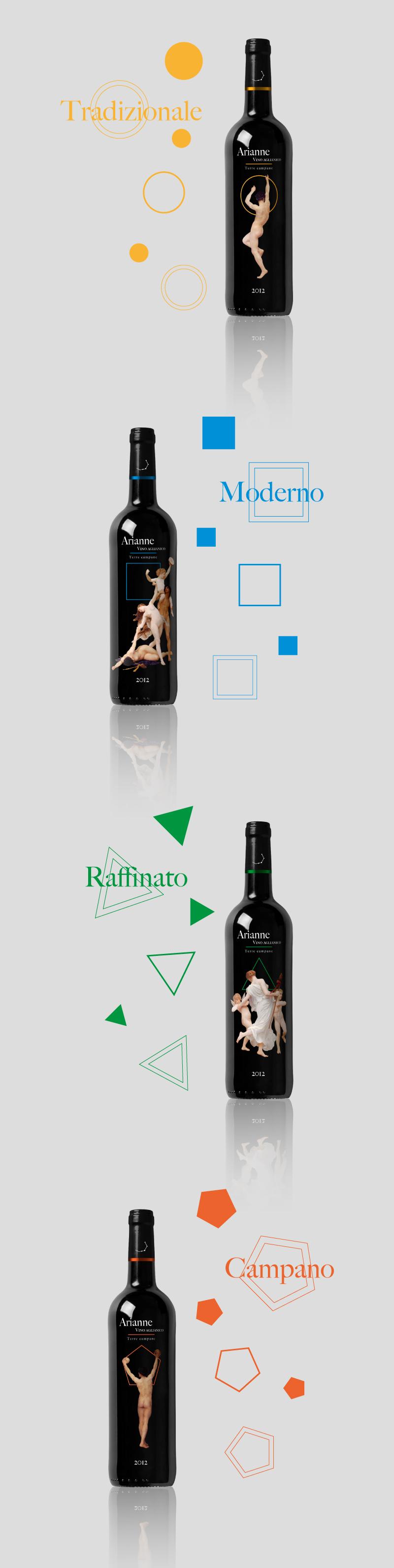 Packaging Portfolio - Bottiglie di vino - Presentazione concept