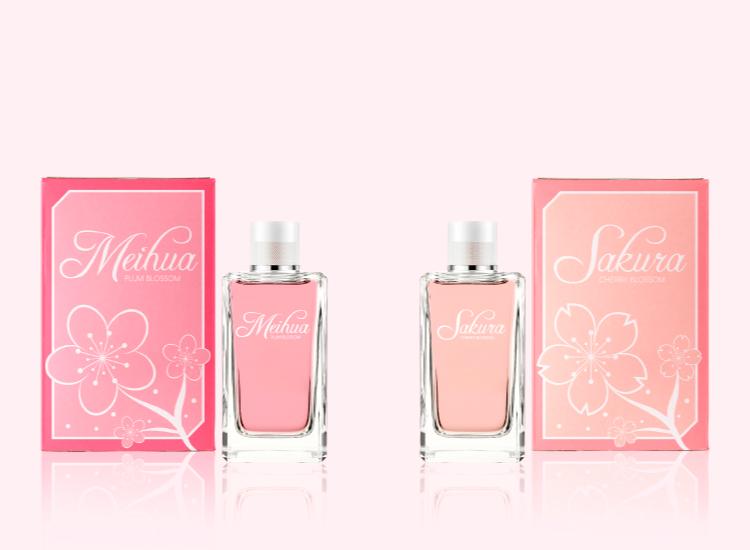 Meihua e Sakura - Packaging per profumi orientali