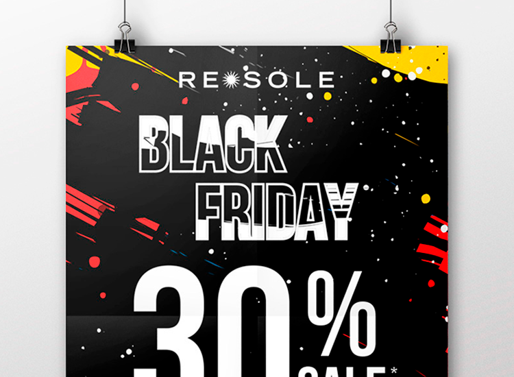 Re Sole casa - Manifesto promo black friday