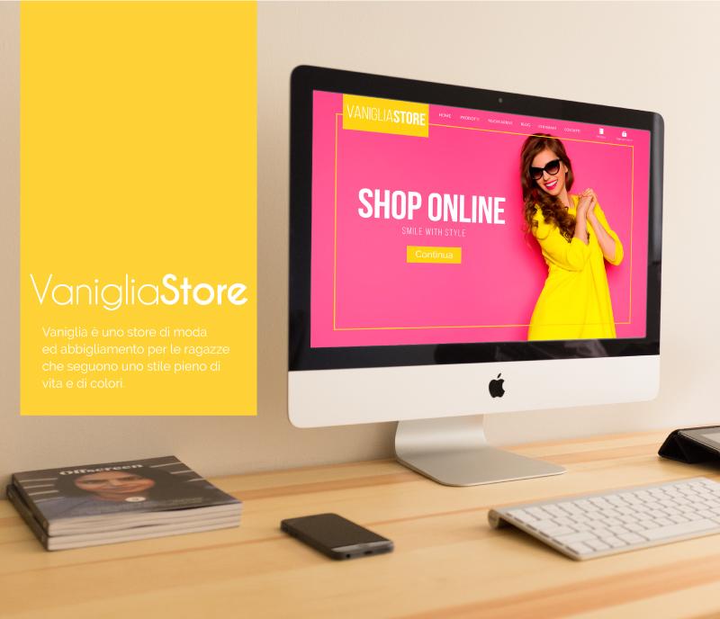 Sito web Portfolio - Abbigliamento femminile - Presentazione