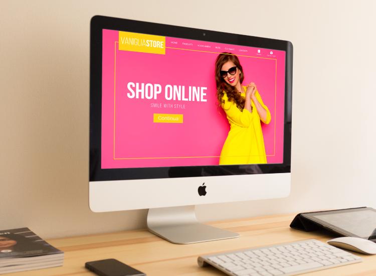 Vaniglia - Sito web per negozio di abbigliamento