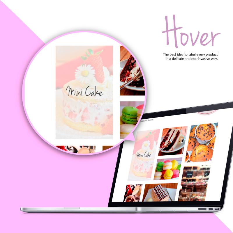Sito web Portfolio - Pasticceria e dolci - Hover