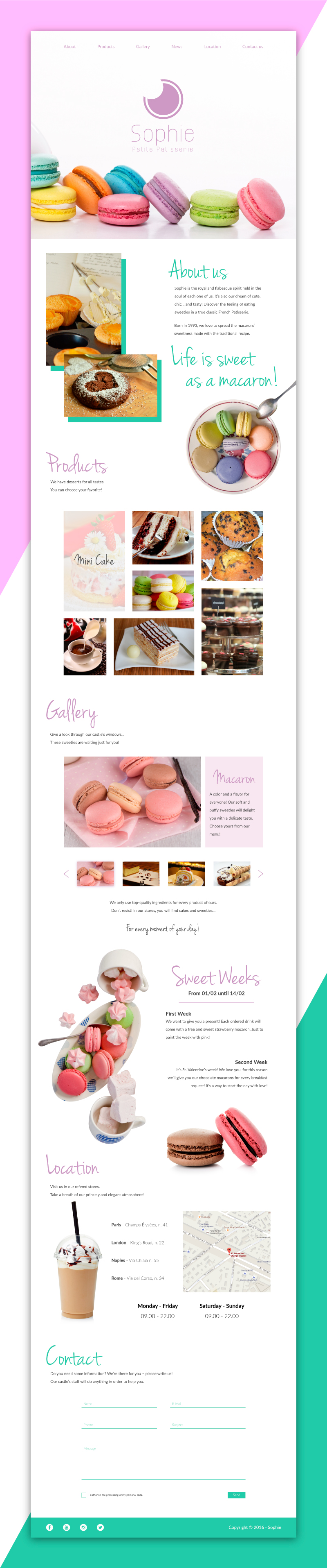 Sito web Portfolio - Pasticceria e dolci - Sito completo