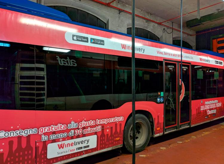 Winelivery - Grafica per esterni e autobus
