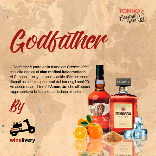 Winelivery Torino Cocktail Week - Facebook post Godfather