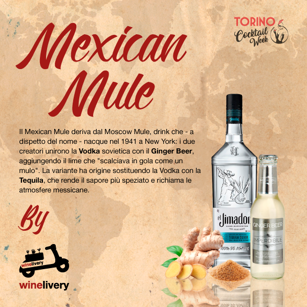 Winelivery Torino Cocktail Week - Facebook post Mexican Mule