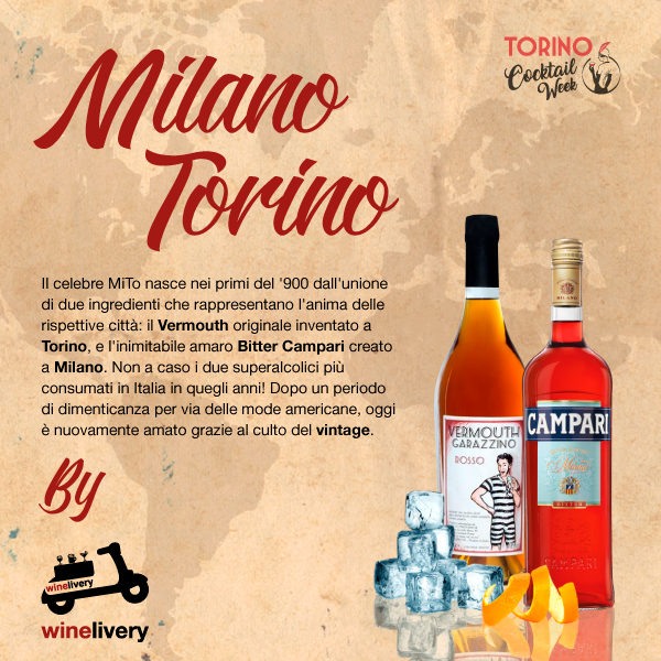 Winelivery Torino Cocktail Week - Facebook post Milano Torino (MiTo)