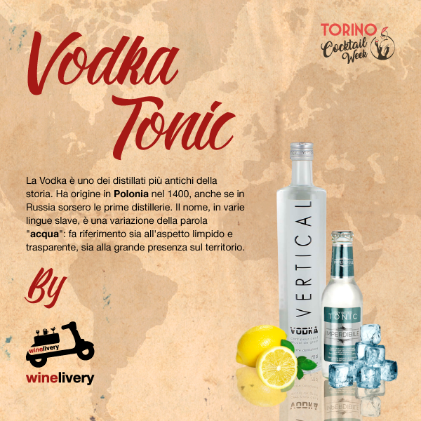 Winelivery Torino Cocktail Week - Facebook post Vodka Tonic