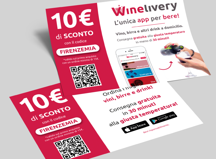 Winelivery - Grafica per volantini su Firenze