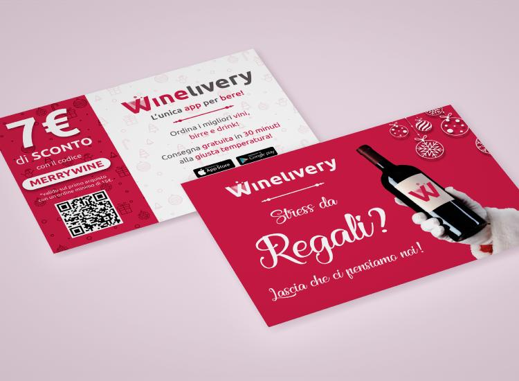 Winelivery - Grafica per volantini natalizi
