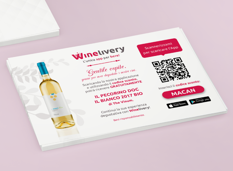 Winelivery - Grafica per volantini The Vinum
