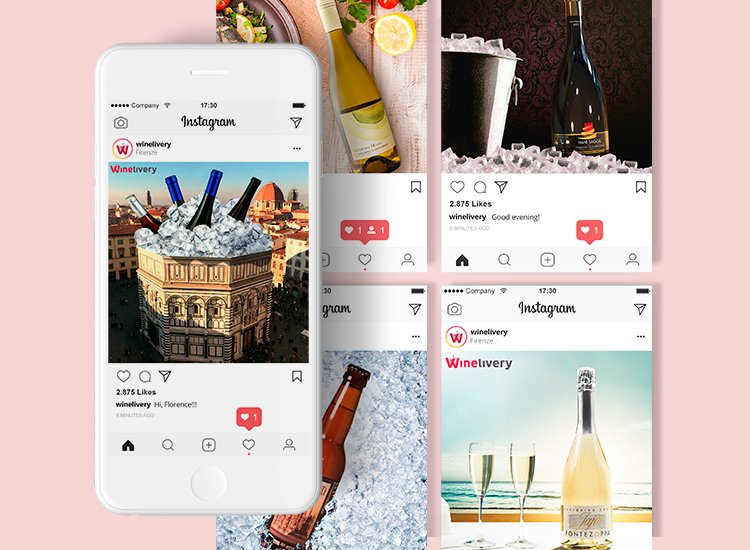 Winelivery - Grafica social Facebook