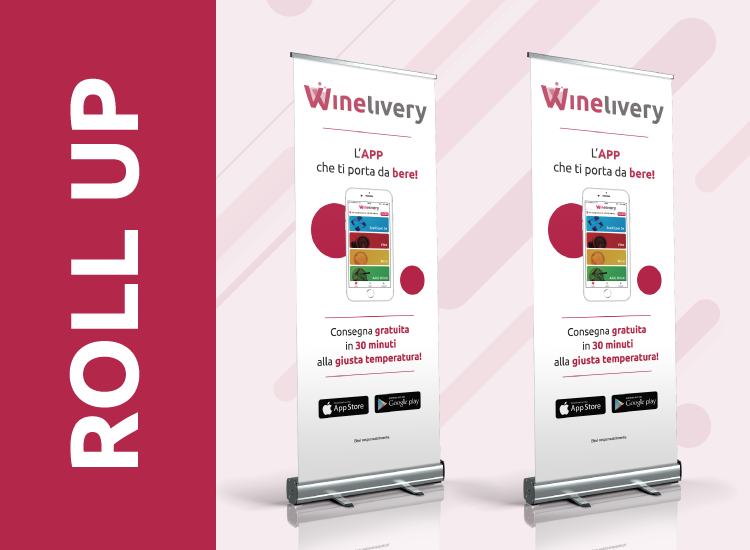 Winelivery - Grafica per banner roll up