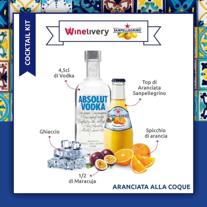 San Pellegrino e Winelivery Facebook post - Aranciata alla coque