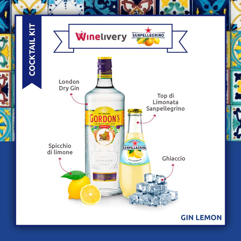San Pellegrino e Winelivery Facebook post - Gin lemon
