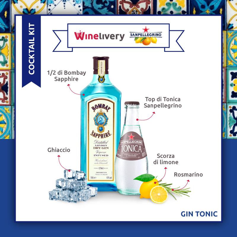 San Pellegrino e Winelivery Facebook post - Gin tonic variante 1