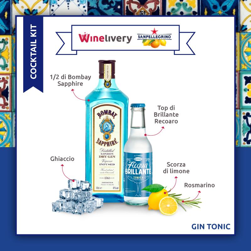 San Pellegrino e Winelivery Facebook post - Gin tonic variante 2