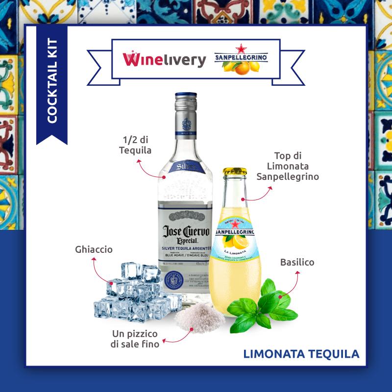 San Pellegrino e Winelivery Facebook post - Limonata tequeila