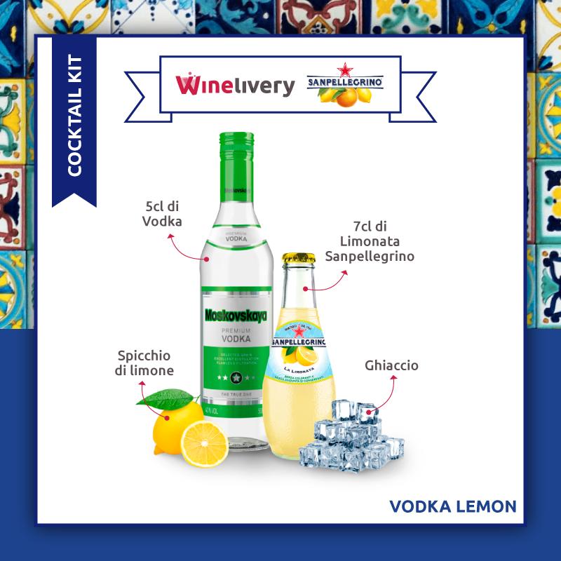 San Pellegrino e Winelivery Facebook post - Vodka lemon