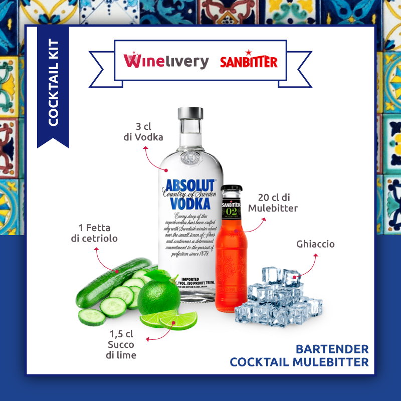 SanBitter e Winelivery Facebook post - Bartender cocktail Mulebitter