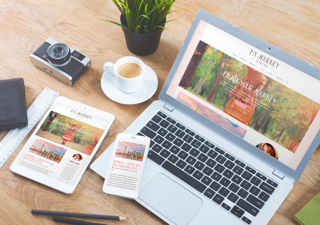 Sito web Portfolio - Blog di viaggi mobile e desktop
