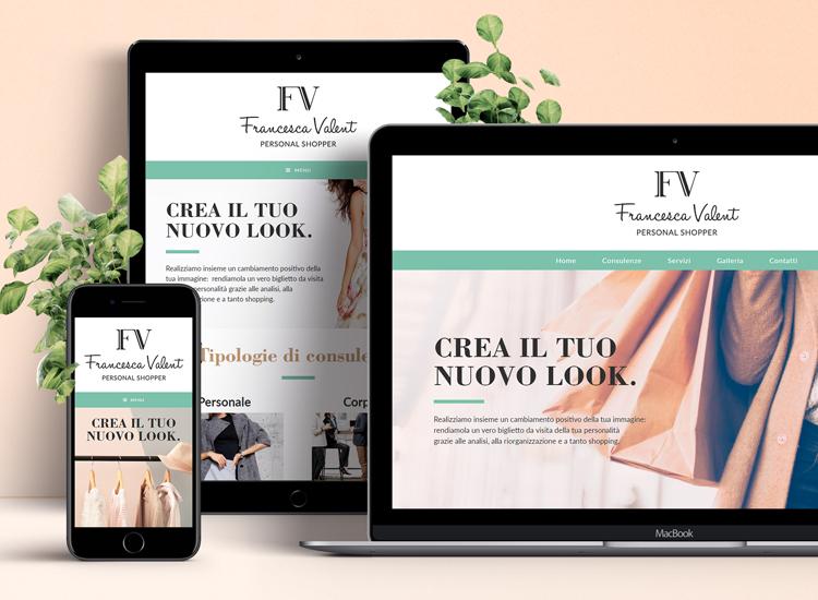 Sito web responsive - Personal shopper Francesca Valent