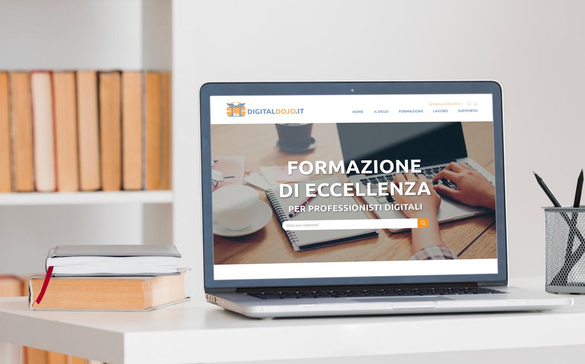 Digital Dojo - Grafica e Web Design UX UI sito - Mockup homepage