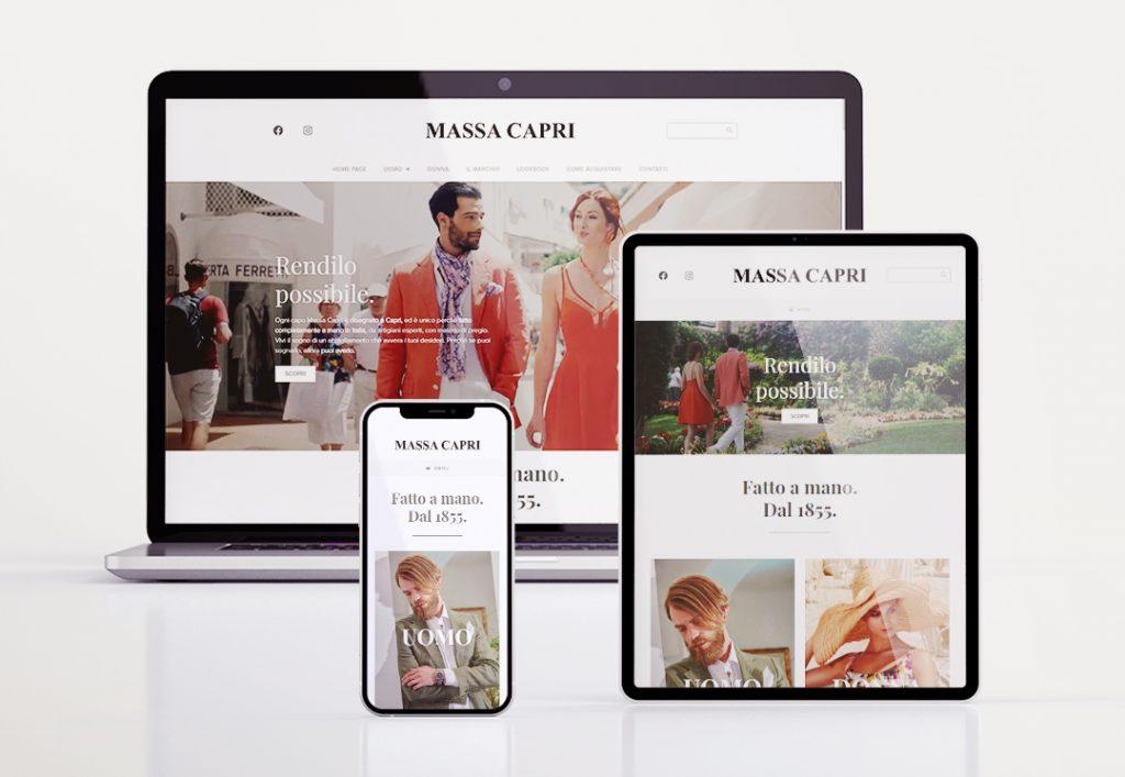 Massa Capri - Sito web completo - Versioni responsive