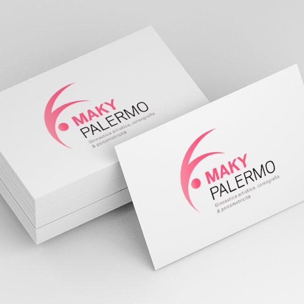 Maky Palermo - Logo e naming - Mockup biglietto da visita