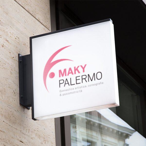 Maky Palermo - Logo e naming - Mockup esterno