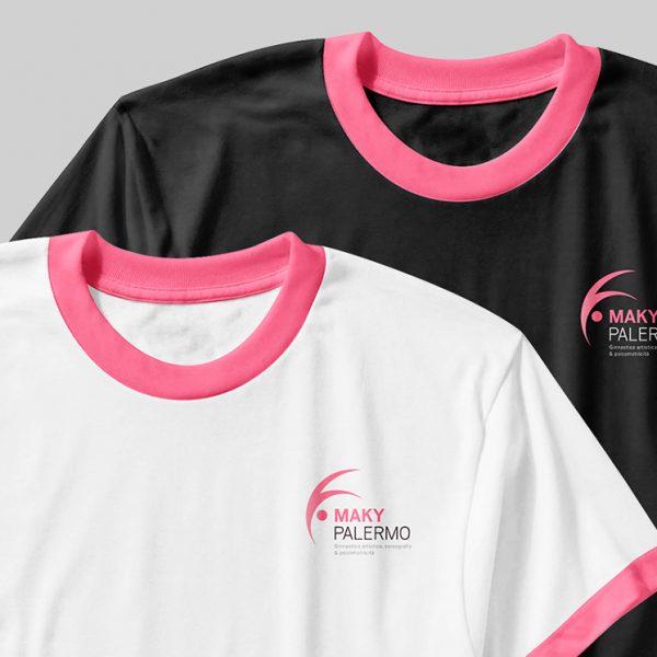 Maky Palermo - Logo e naming - Mockup magliette