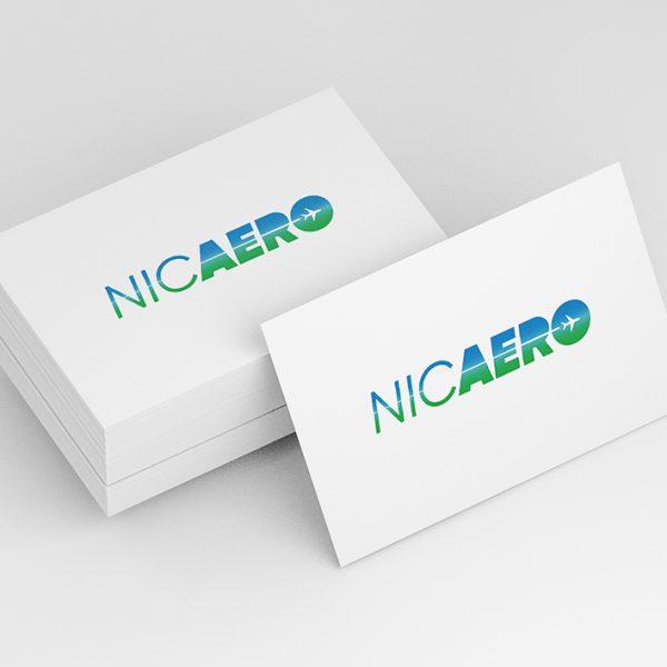 Nic Aero di Andrea Nicotera - Logo - Mockup biglietto da visita